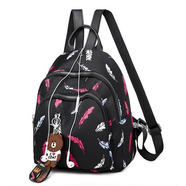 Women Backpack Small Rucksack Oxford School Shoulder Bag Waterproof Backpacks for Teenage Girls Black Student Back pack Mochila