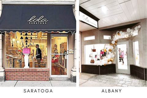 Lola Saratoga - Store Locations and Hours - 372 Broadway, Saratoga Springs, NY & 1475 Western Ave, Albany, NY