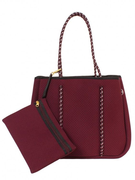 Annabel Ingall Sporty Spice Neoprene Tote- Mulberry