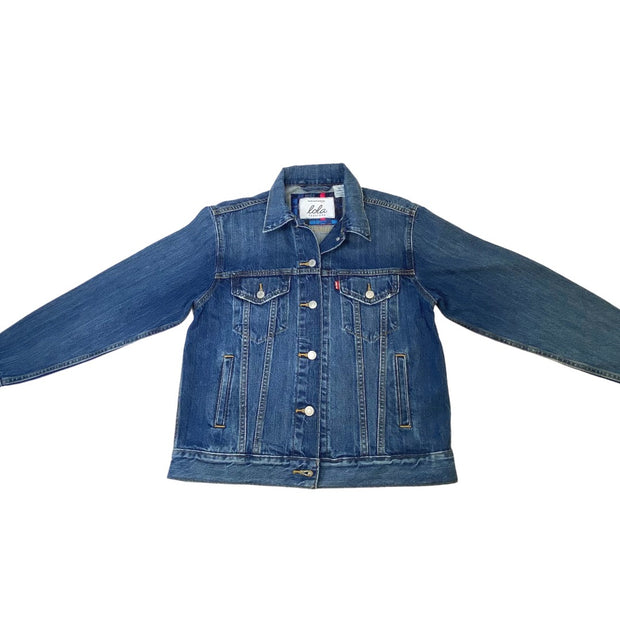 Hermes Luxury Repurposed Denim Jacket