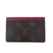 Louis Vuitton Monogram Card Case with Berry Pink