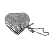 Louis Vuitton Silver Vernis Heart Coin Purse