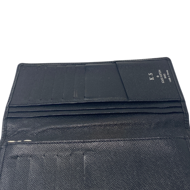 Louis Vuitton Black Epi Leather Long Bifold Wallet