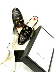 Gucci Princetown Horsebit Accent Mules