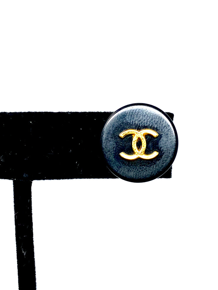Chanel Repurposed Button Earrings
