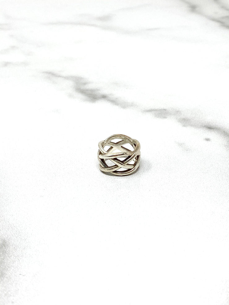 Tiffany & Co Sterling Silver Braided Ring
