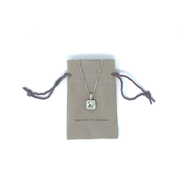 David Yurman Petit Albion Necklace with Diamonds and Prasiolite