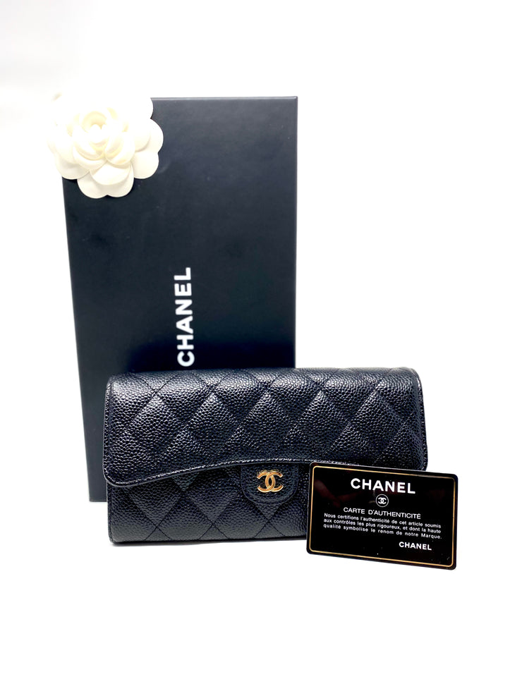 Chanel Caviar Classic Long Flap Wallet