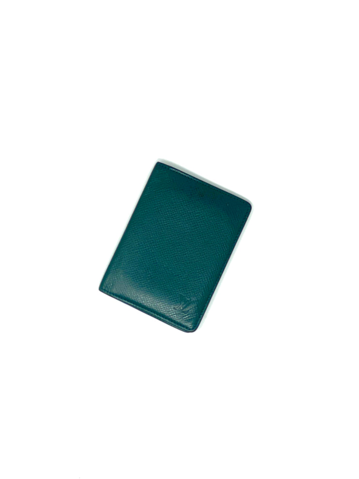Louis Vuitton Green Leather Card Case