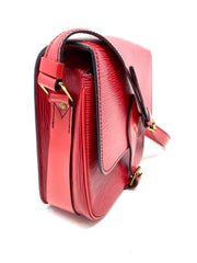 Louis Vuitton Red Epi Leather Cartouchiere MM