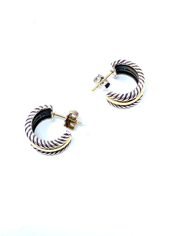 David Yurman Cable Collectibles Hoop Earrings