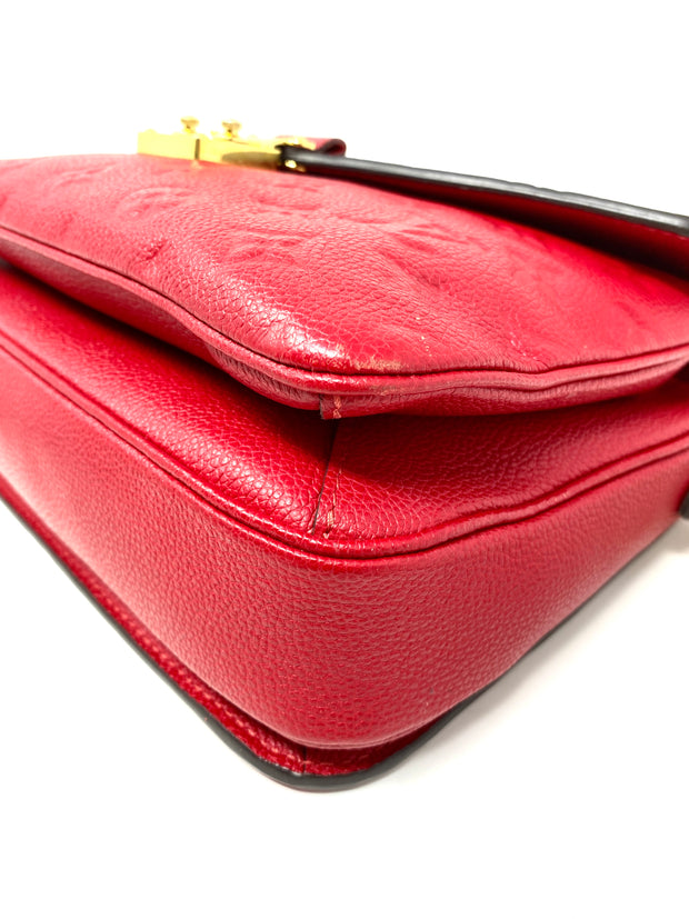 Louis Vuitton Red Empreinte Pochette Métis