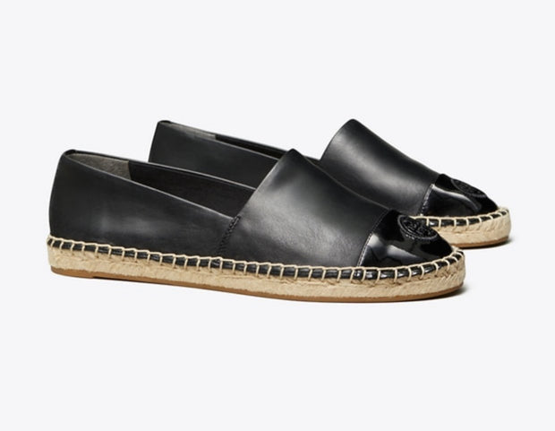 TORY BURCH COLORBLOCK MIXED-LEATHER ESPADRILLE