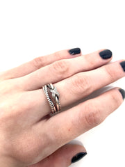 David Yurman X Crossover Diamond Ring