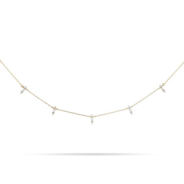 Adina Reyter Stack Baguette Chain Necklace