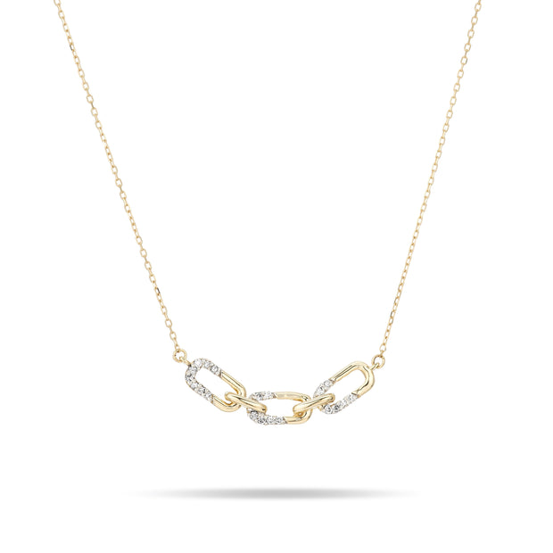 Adina Reyter Pavé Interlocking Link Curve Necklace