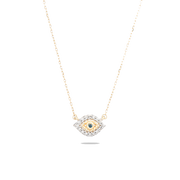 Adina Reyter Super Tiny Pavé Evil Eye Necklace