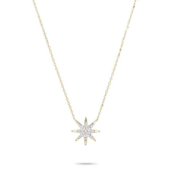 Adina Reyter Solid Pavé Starburst Necklace