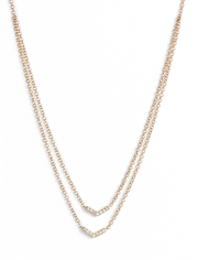 EF Collection Double Layer Chevron Necklace