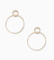 Sophie Ratner Pave Single Circle Hinge Earrings