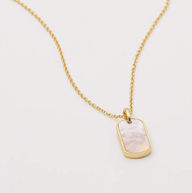 Gorjana Griffin Gem Dog Tag Necklace