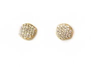 Tai Pave Organic Disc Earrings