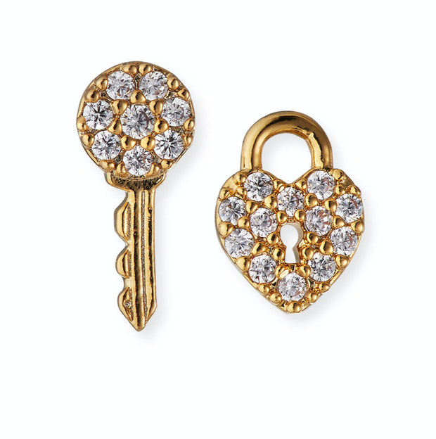 Tai Lock & Key Post Earrings