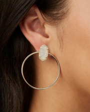 Kendra Scott Mayra Rose Gold Hoop Earrings in Rose Gold Drusy