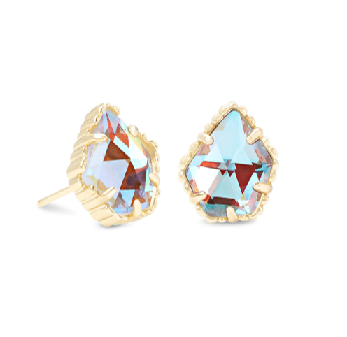 Kendra Scott Tessa Gold Stud Earrings In Dichroic Glass