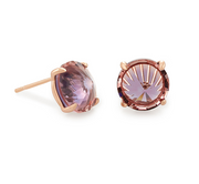 Kendra Scott Jolie Rose Gold Stud Earrings In Peach Ombre