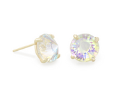 Kendra Scott Jolie Gold Stud Earrings In Dichroic Glass