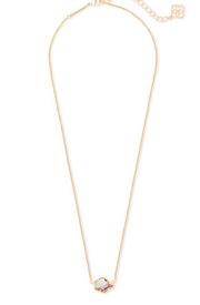 Kendra Scott Tess Gold Pendant Necklace In Dichroic Glass