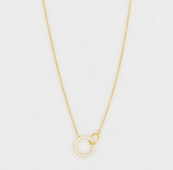Gorjana Balboa Interlocking Rings Necklace