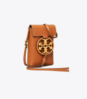 TORY BURCH MILLER METAL-LOGO PHONE CROSSBODY