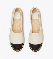 TORY BURCH COLORBLOCK LEATHER ESPADRILLE