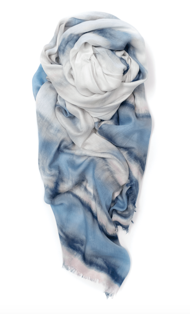 Fig & Bella Wave Scarf: Pale Blue