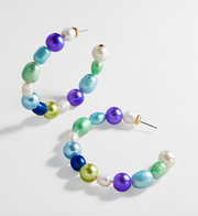 Baublebar Nile Pearl Hoop Earrings