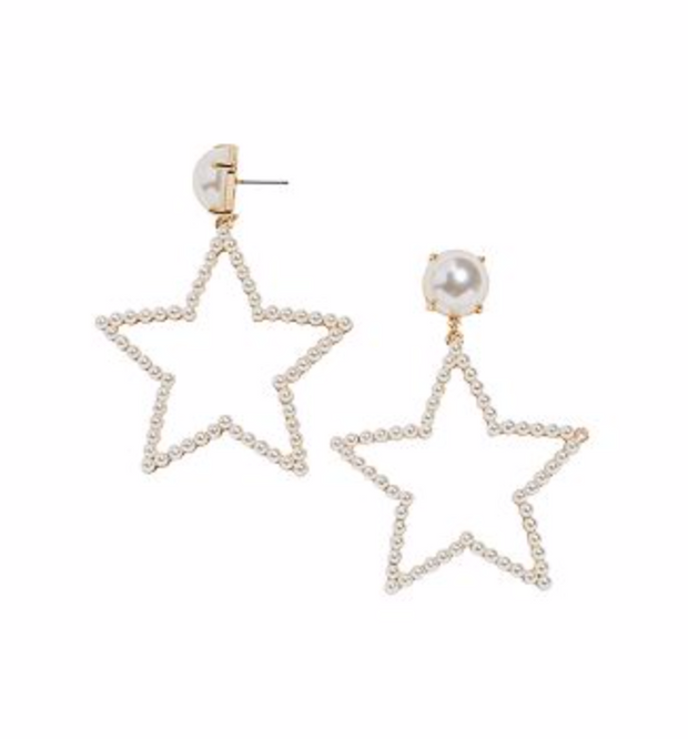 Baublebar Grace Pearl Star Drop Earrings