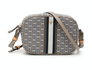 Tory Burch Gemini Link Camera Bag- Grey Heron