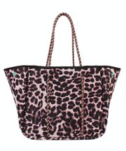 Annabel Ingall Sporty Spice Neoprene Tote- Leopard