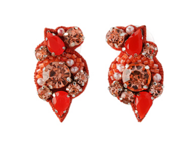 Mignonne Gavigan Gaby Earrings - Coral