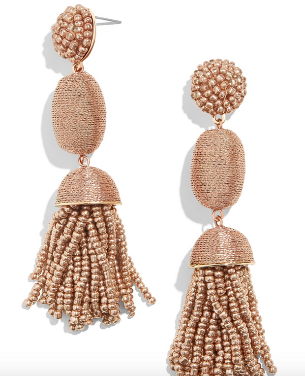 Baublebar Rose Gold Tamsin Tassel Drop Earring