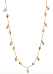 Gorjana Rumi White Opal Confetti Chain Necklace