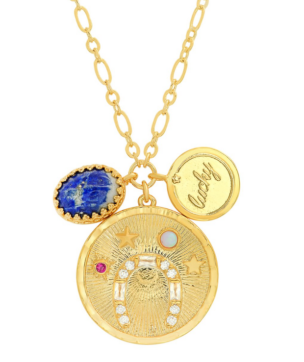 Tai LUCKY COIN PENDANT CHARM NECKLACE