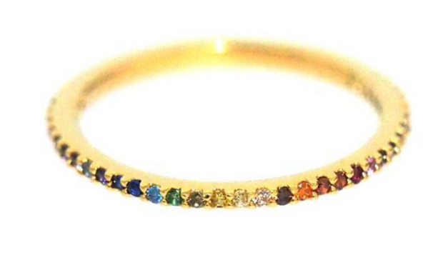 TAI SINGLE BAND RAINBOW STONE RING