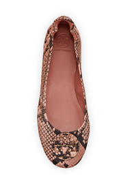 Minnie Travel Ballet Flat - Blush (Snake)