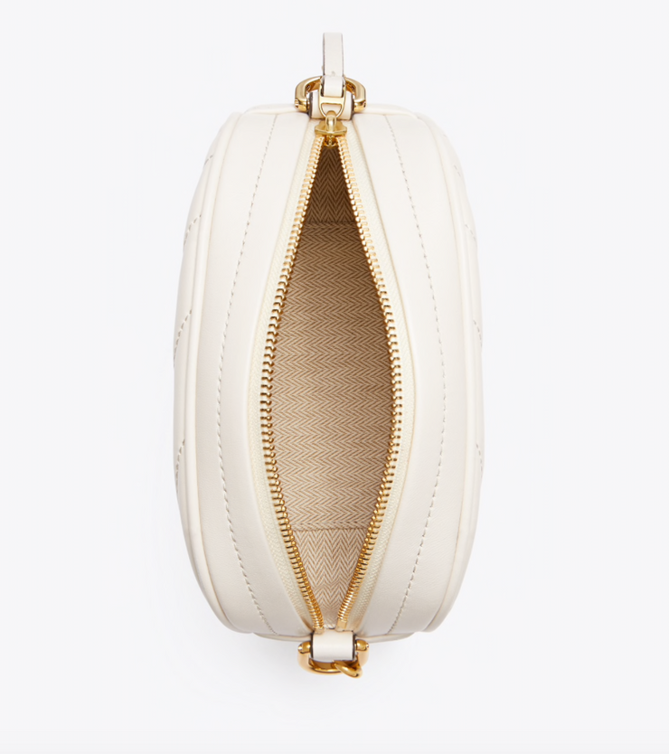 TB Kira Chevron Small Camera Bag - New Ivory