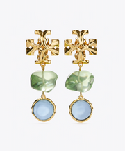 Tory Burch Roxanne Double Drop Clip On Earring