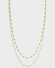 Gorjana Capri Layer Necklace - Black