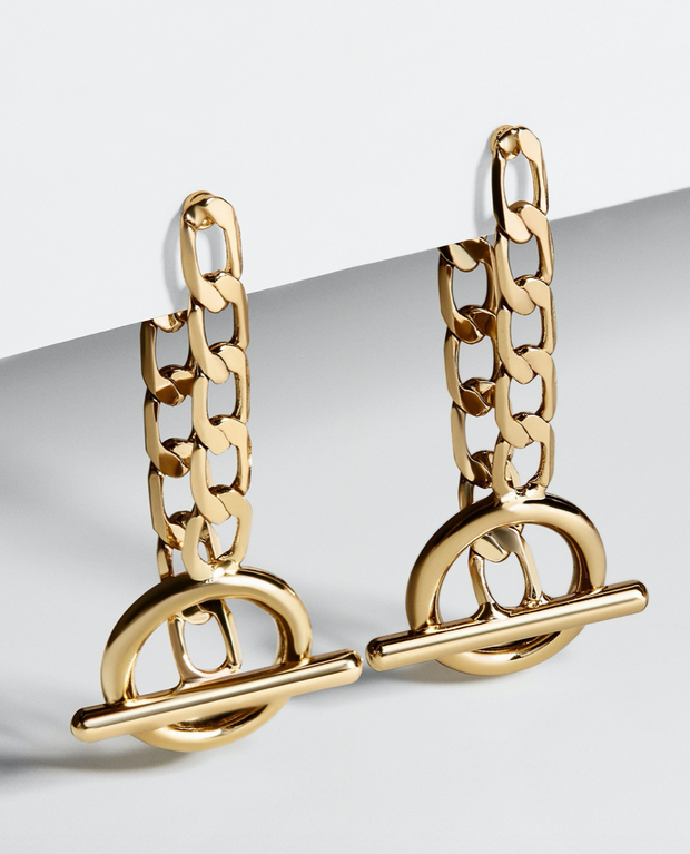 Baublebar Gia Curb Chain Toggle Drop Earrings